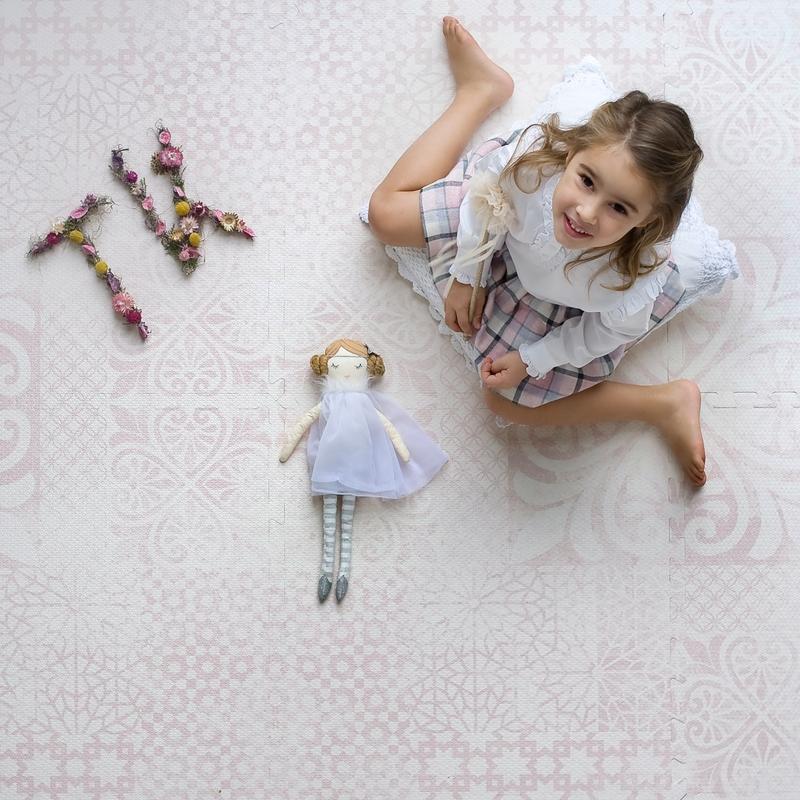 Spielmatte 'Persian' rosa 120x180cm