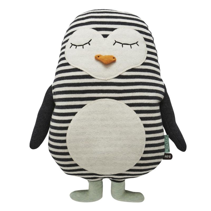 Kuscheltier 'Pinguin Pingo' Strick schwarz