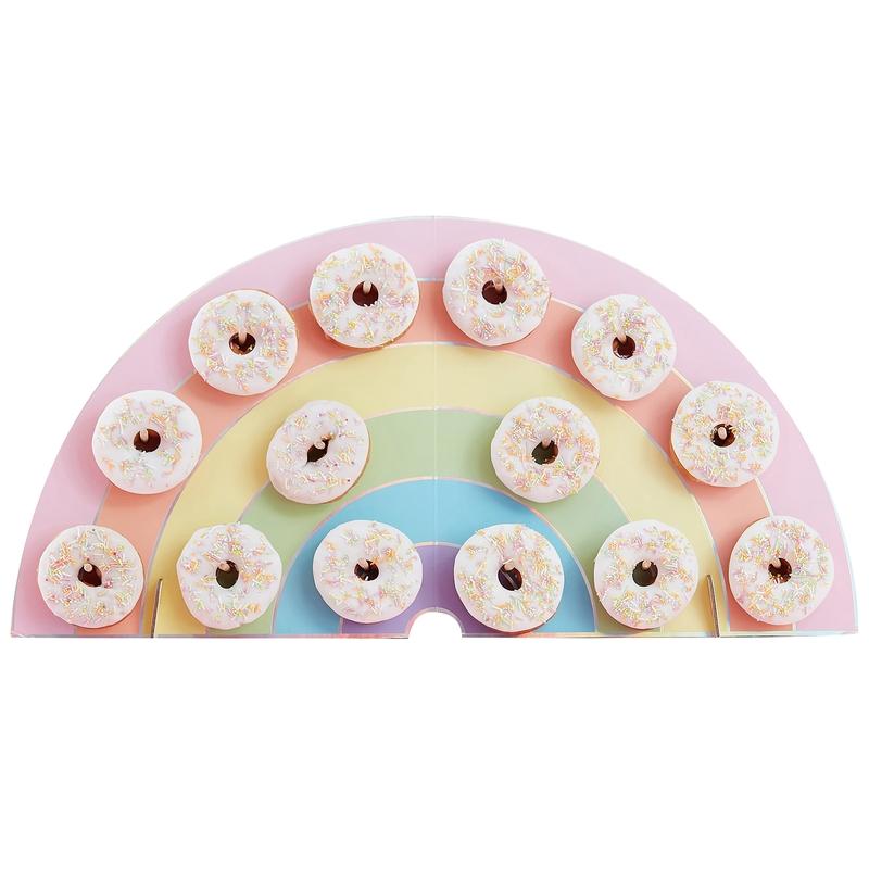Regenbogen Wand für 14 Donuts 64cm