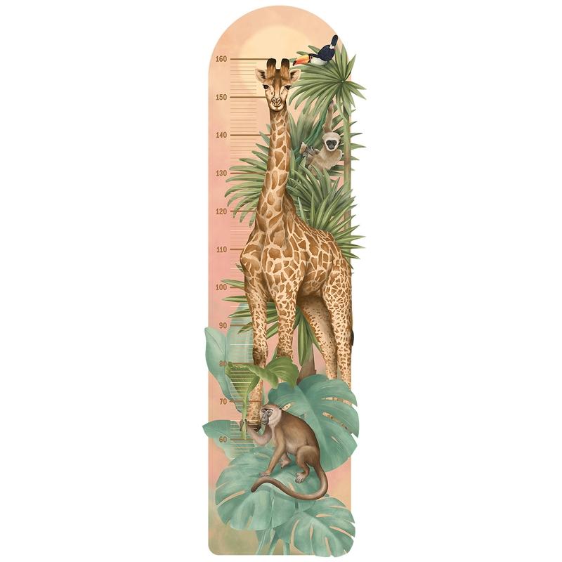 Wandsticker Messlatte 'Safari' grün/camel