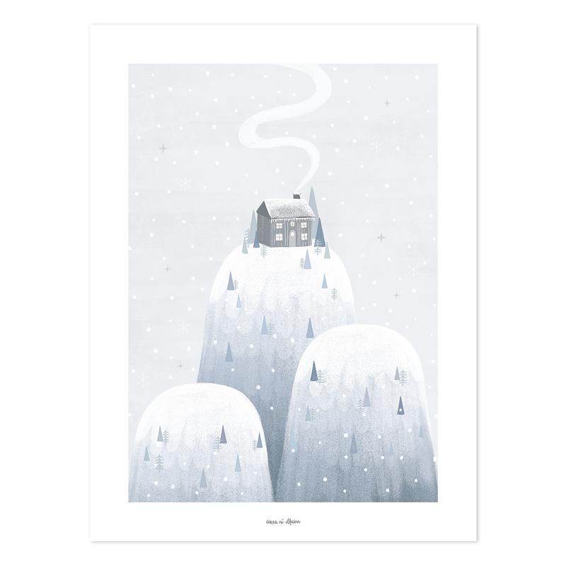 Poster 'Arctic' Berge grau/blau 30x40cm
