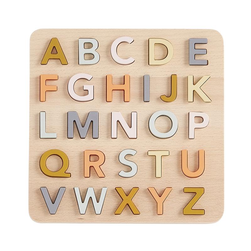 Lernpuzzle 'Alphabet' Naturholz ab 1 Jahr