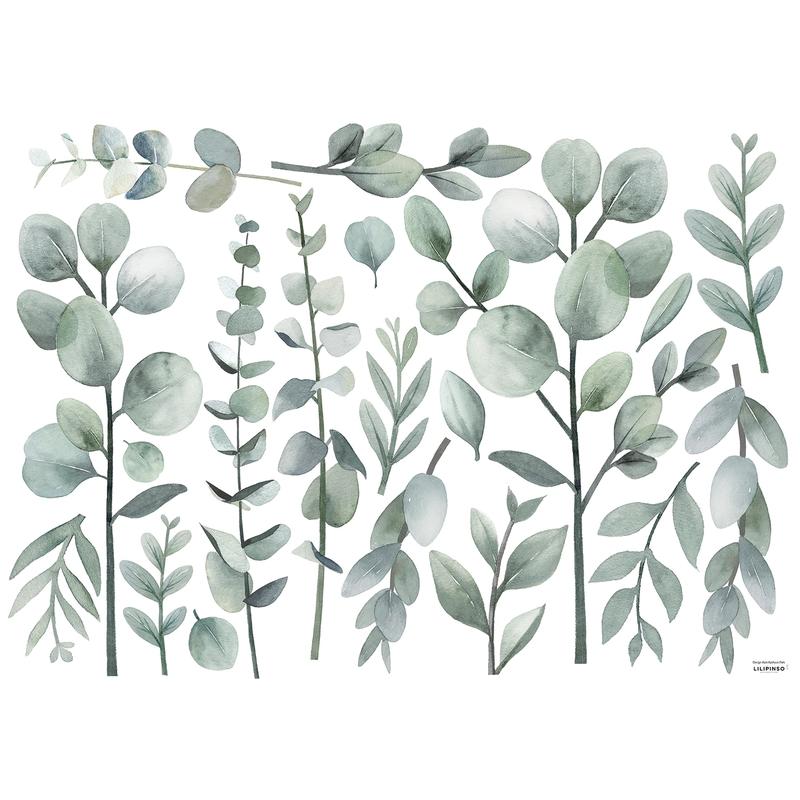 Wandsticker 'Greenery' Eukalyptus Blätter
