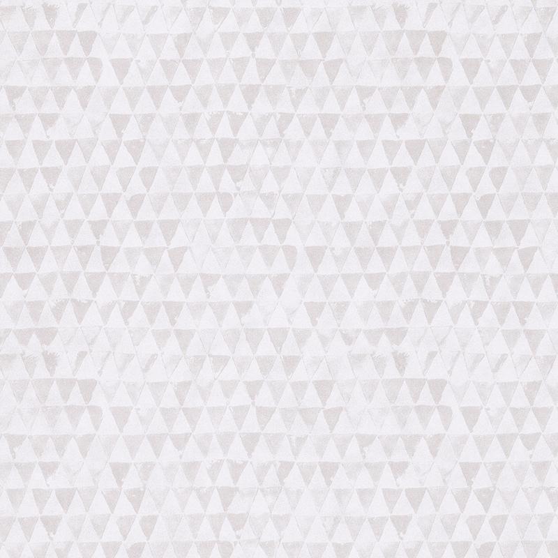 Vliestapete 'Dreiecke' grau/creme