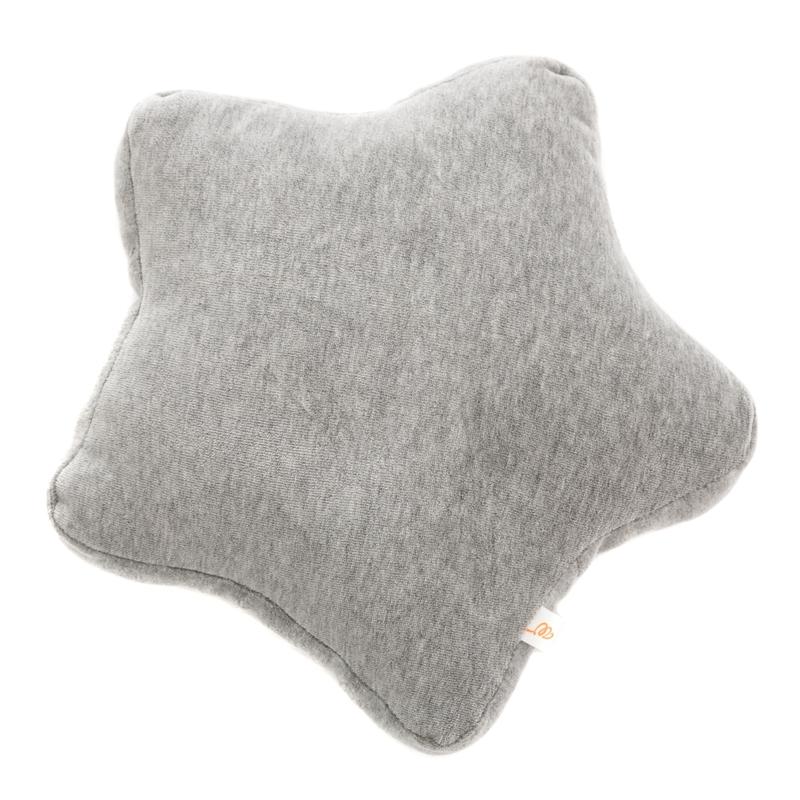 Kissen 'Stern' aus Samt grau ca. 30cm