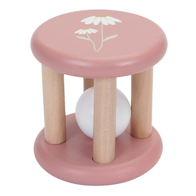 Babyrassel 'Wild Flowers' Holz rosa ab 3 Monaten