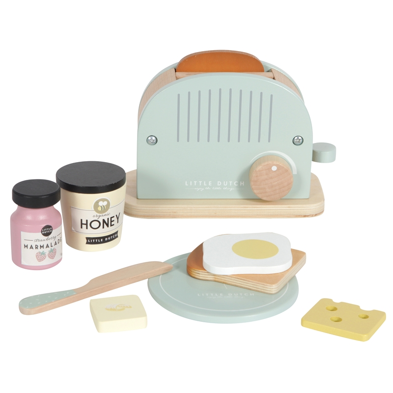 Toaster-Set aus Holz mint ab 3 Jahren