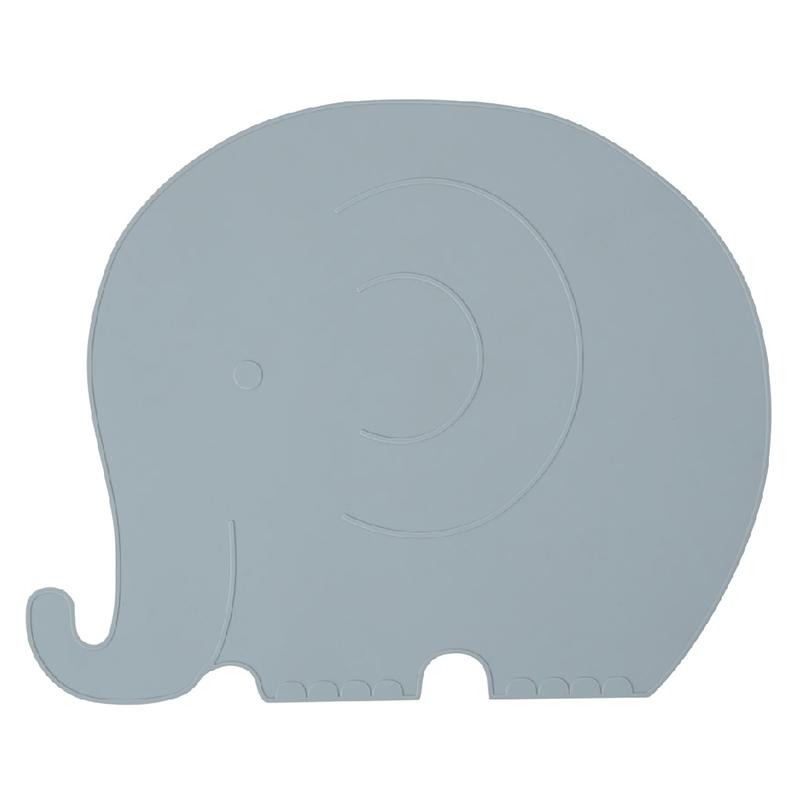Tischset Elefant 'Henry' Silikon rauchblau