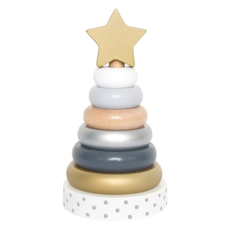 Stapelturm 'Stern' silber/gold/weiß ab 1 Jahr