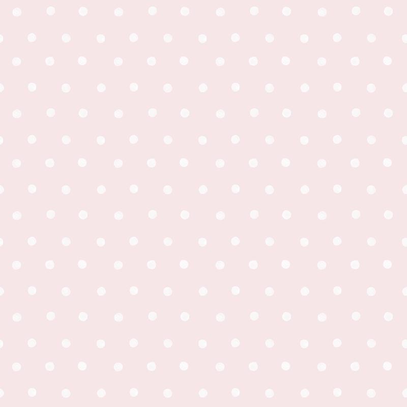 Vliestapete 'Punkte' puderrosa/weiß