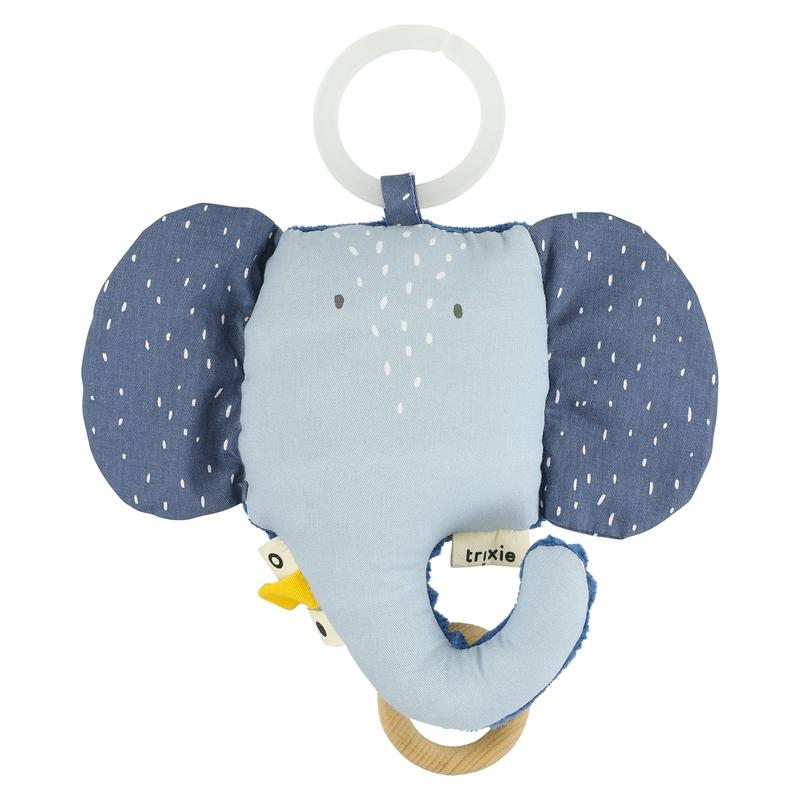 Spieluhr mit Spiegel 'Elefant' blau ca. 14cm