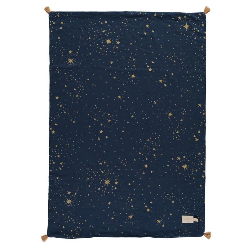 Sommerdecke 'Gold Stella' dunkelblau 70x100cm