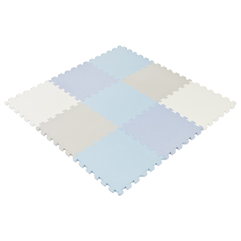 Puzzlematte Schaumstoff blau/grau 90x90cm