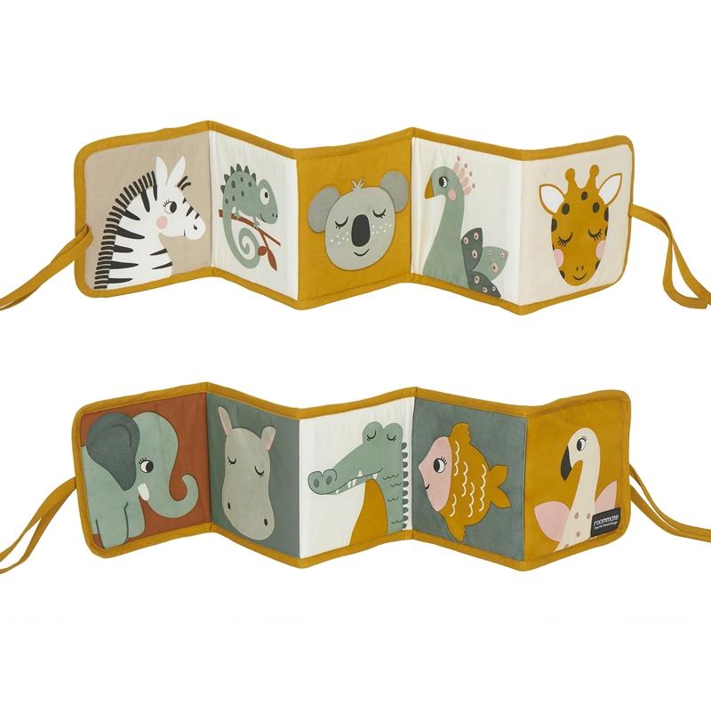 Stoffbuch zum Binden 'Dschungel Tiere' 78cm