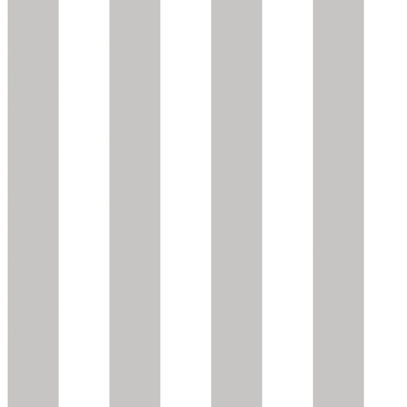 Vliestapete 'Maxi Streifen' warmgrau/weiß