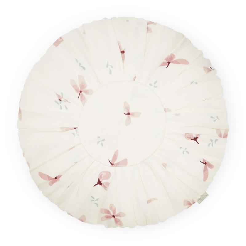 Kissen 'Windflower' creme/rosa rund 30cm