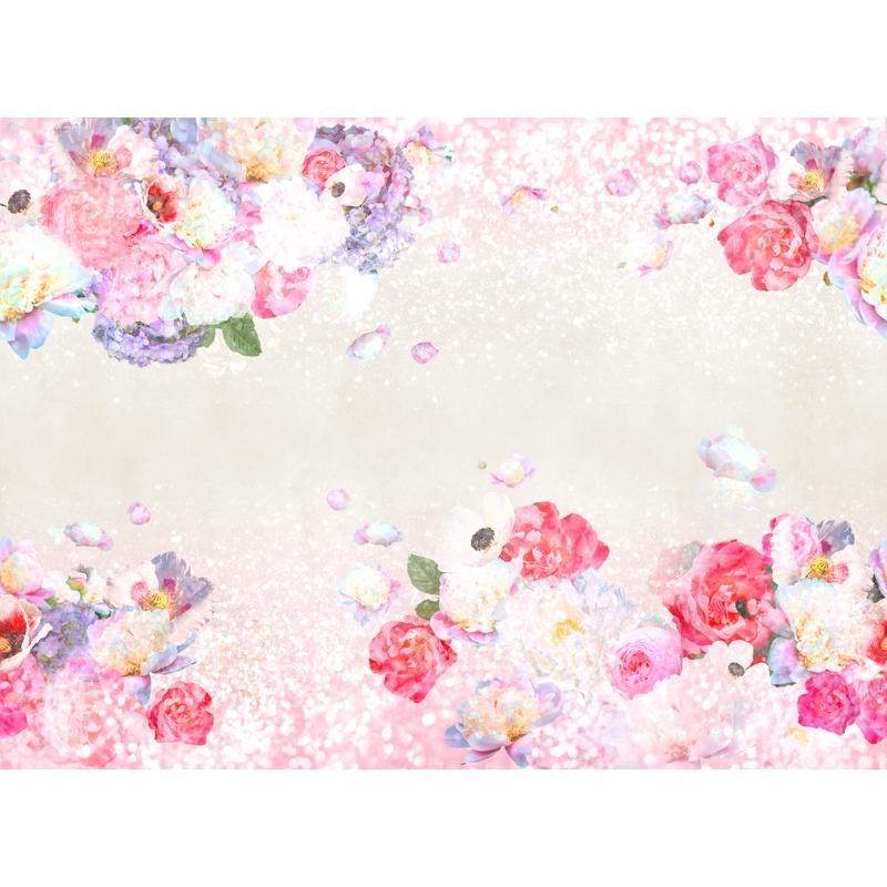 Fototapete 'Blumen' pink/lila 360x265cm
