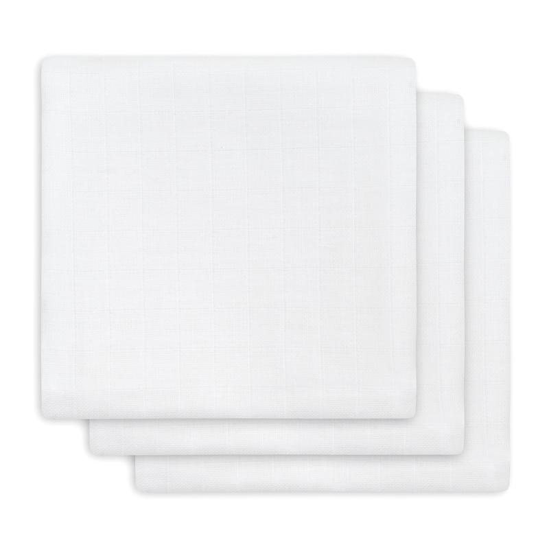 Mulltücher weiß 3er Set 70x70cm