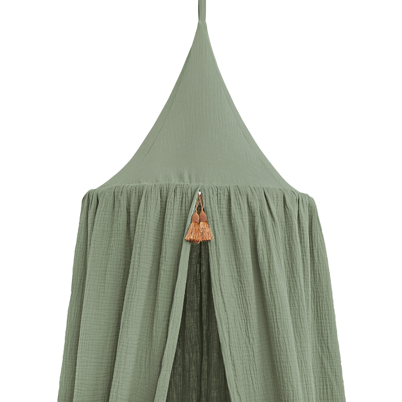 Baldachin Musselin khaki 250cm handmade
