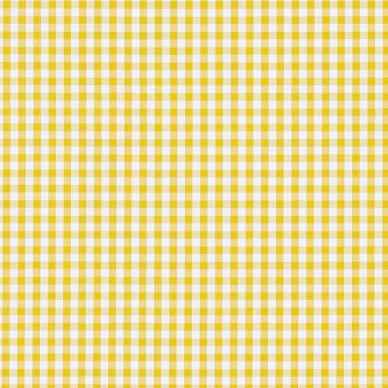 Kinderzimmer Stoff 'Vichykaro' gelb