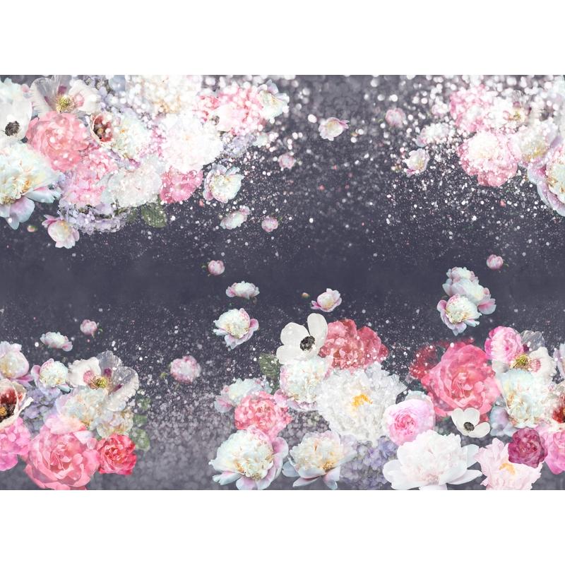 Fototapete 'Blumen' dunkelblau 360x265cm
