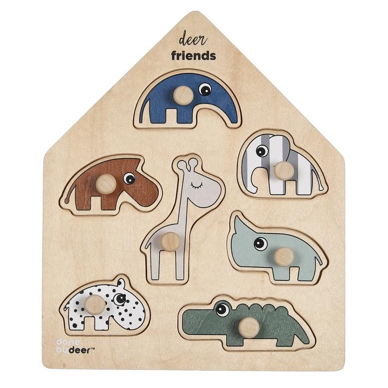 Holzpuzzle 'Tierfreunde' natur ab 1 Jahr