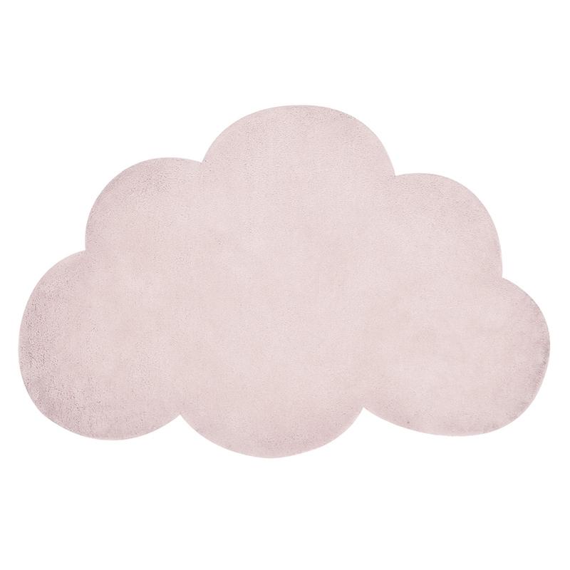 Kinderteppich 'Wolke' puderrosa ca. 64x100cm