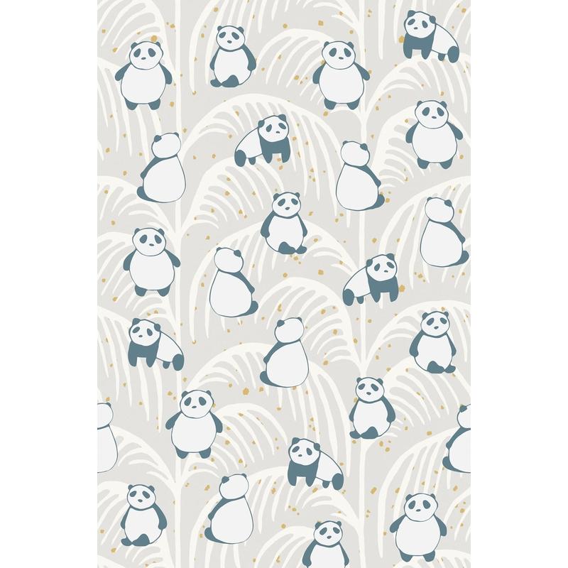 Fototapete 'Mini Me' Panda grau 93x280cm