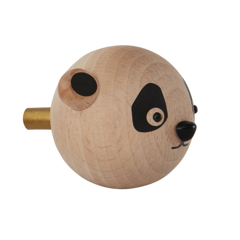 Kleiderhaken 'Panda' aus Buchenholz ca. 6cm