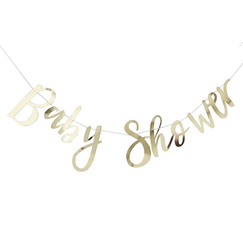 Partygirlande 'Baby Shower' gold 150cm