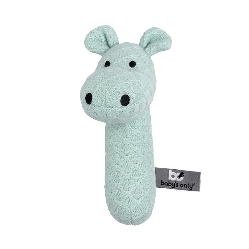 Babyrassel 'Hippo' Feinstrick mint 15cm