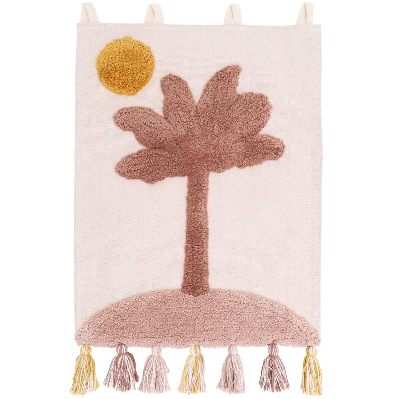 Wandteppich 'Little Palm' altrosa 40x50cm