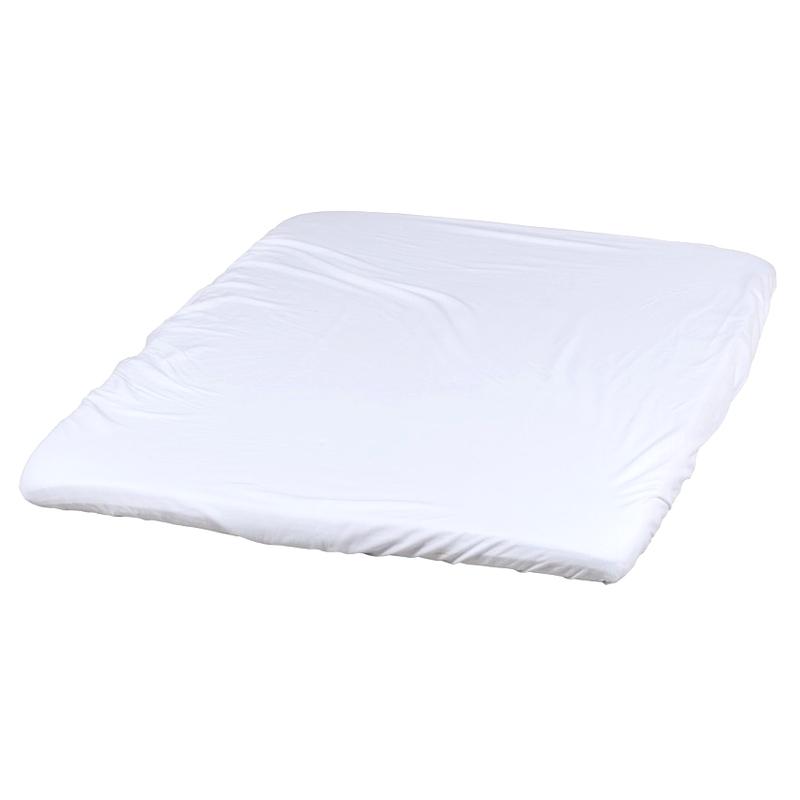 Spannbettlaken für Laufgitter weiß 83x110cm