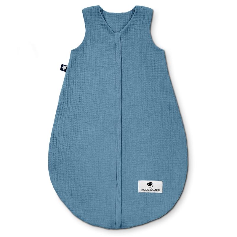 Sommerschlafsack 'Terra' Musselin blau