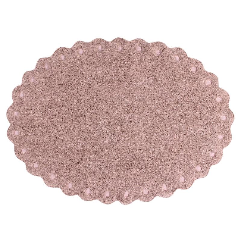 Teppich 'Picone' oval altrosa 130x180cm waschbar