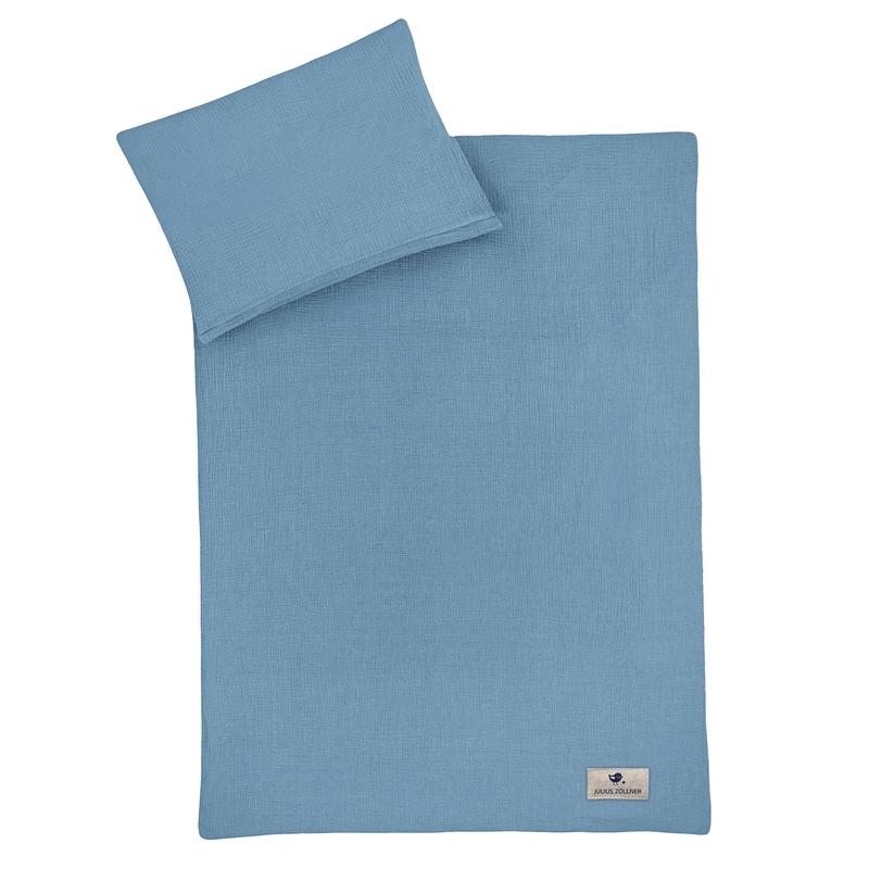 Bettwäsche Musselin blau ca. 100x135cm